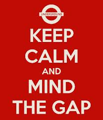 keep calm and mind the gap cropped background